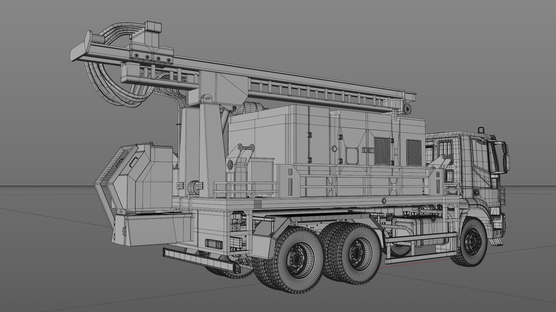 Projects_CharityWater_process_Drilling_Rig_model_02_C4Dviewport