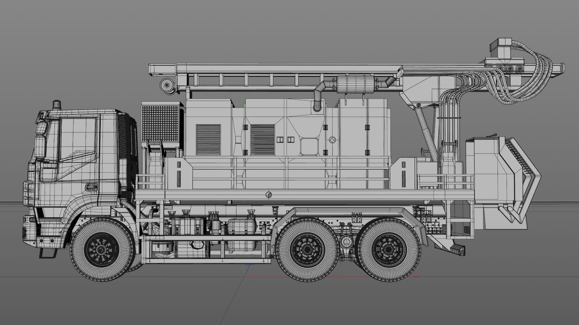 Projects_CharityWater_process_Drilling_Rig_model_04_C4Dviewport